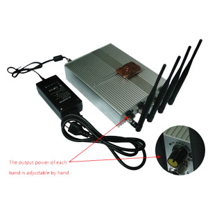 Wholesale Power Adjustable Remote Control Mobile Phone Jammer + 60 Meters