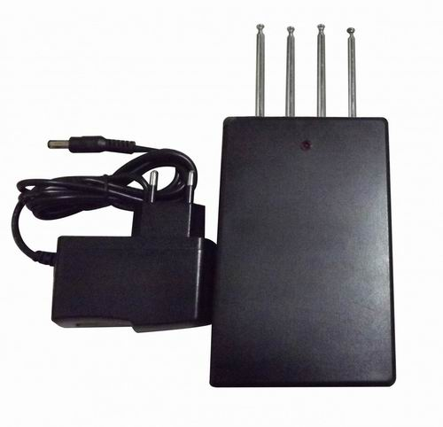 Wholesale Quad band Car Remote Control Jammer (270MHZ/ 330MHz/ 390MHZ/418MHz,50 meters)