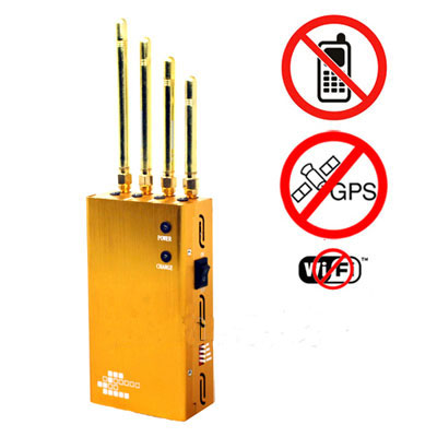 Wholesale Powerful Golden Portable Cell phone & Wi-Fi & GPS Jammer