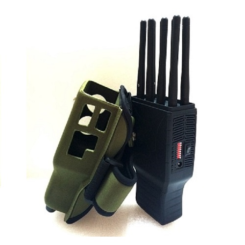 Wholesale Handheld 8 Bands All CellPhone and WIFI LOJACK GPS Signal Jammer with Nylon Case